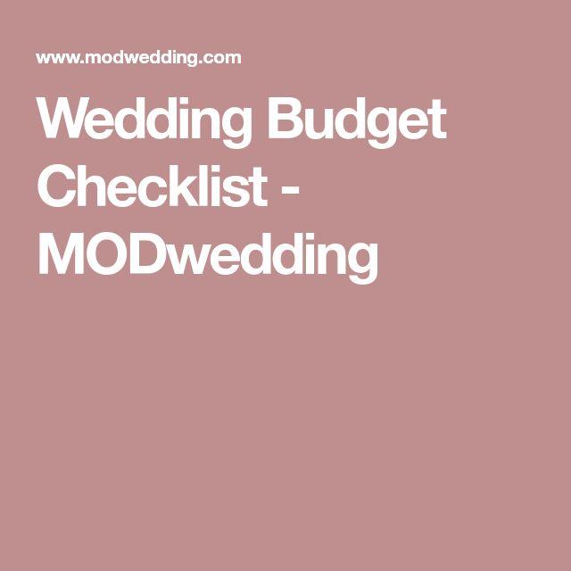 Best 25+ Wedding budget checklist ideas on Pinterest Wedding - wedding checklist