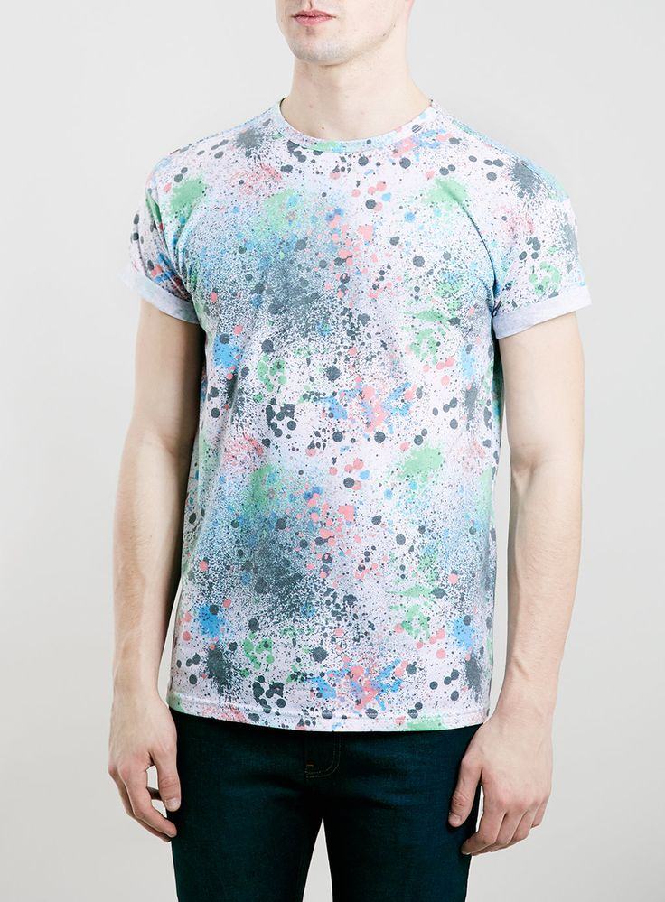 MULTI COLOURED SPLAT T-SHIRT