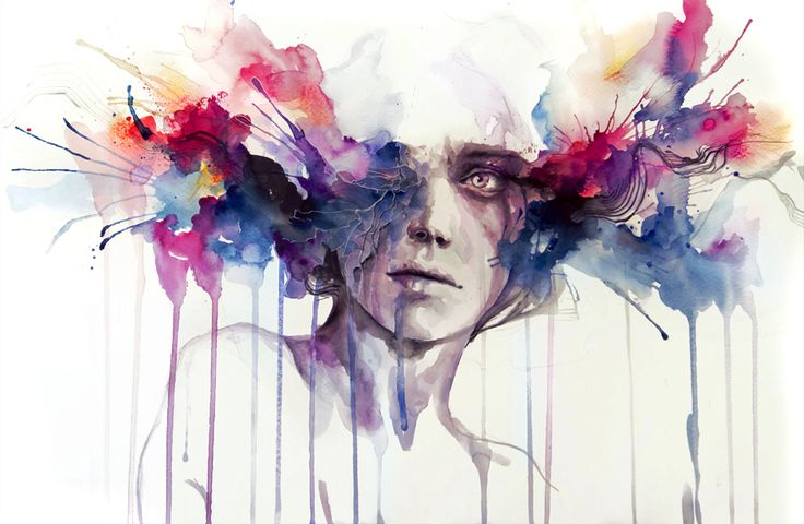 Paintings by Silvia Pelissero (Agnes Cecile)
