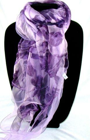 100% silk. Various colours. Women's 2 layers prints ruffle long shawl and wrap. 165cmx60cm #Q116(HS-2)