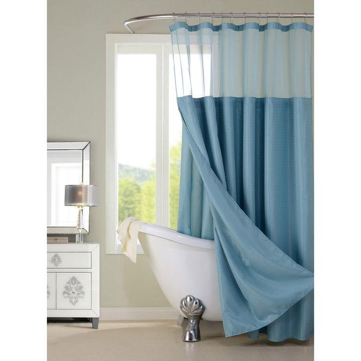 Dainty Home Hotel Shower Curtain Aqua - CSCDLAQ