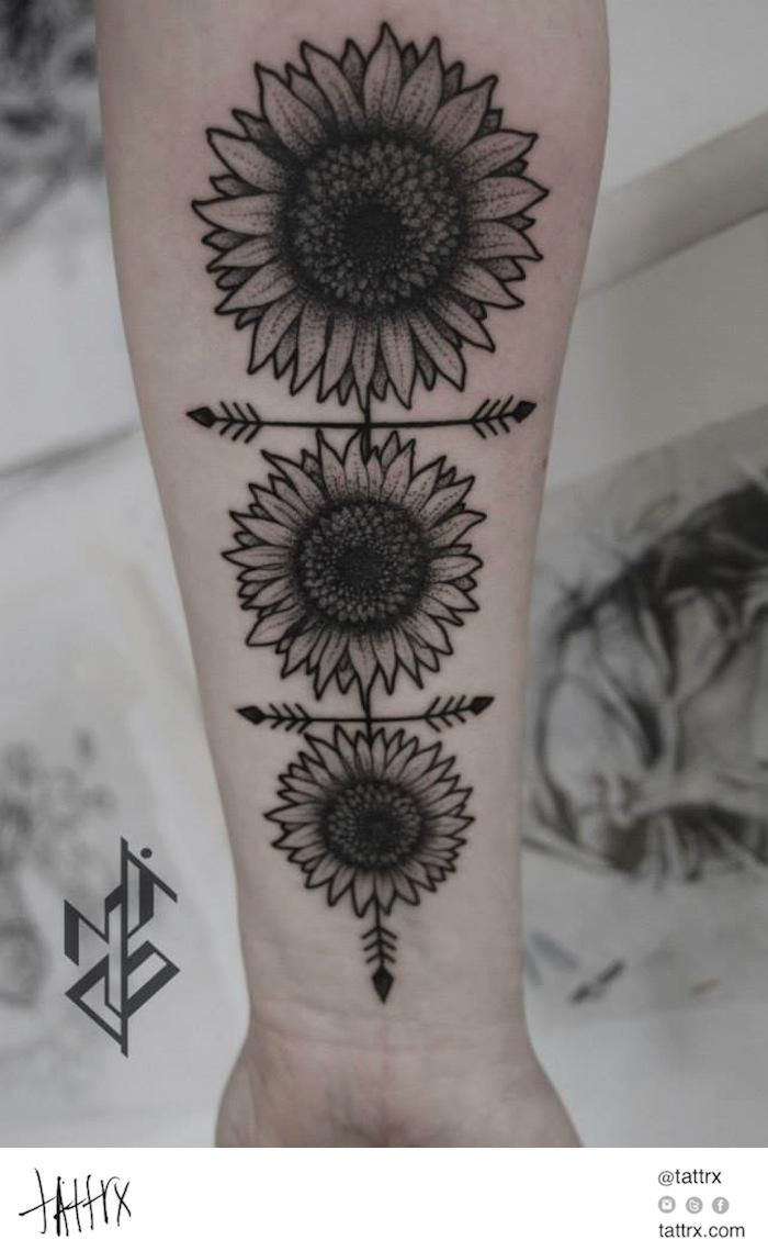 Mico Goldobin Tattoo - Sunflowers | tattrx