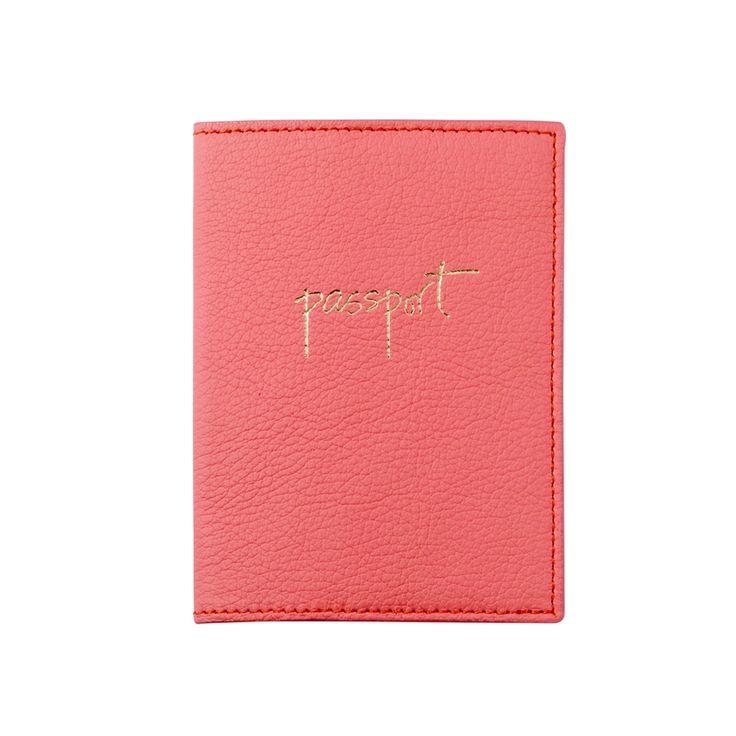 Leather Passport Case - heart cherries mint by VIDA VIDA j6hV2v