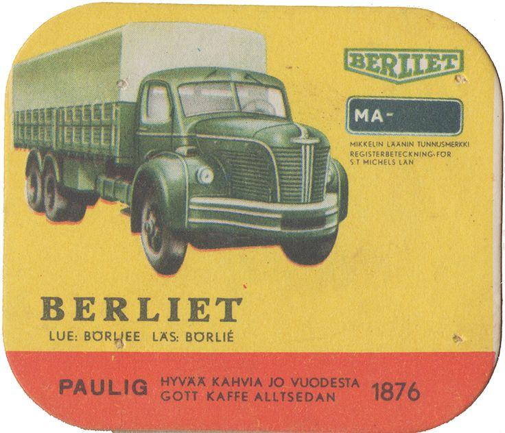 En nostalgitripp fram till jul med hjälp av Pauligs bilkort från mitten av 1900-talet. Berliet #trucks #vintage