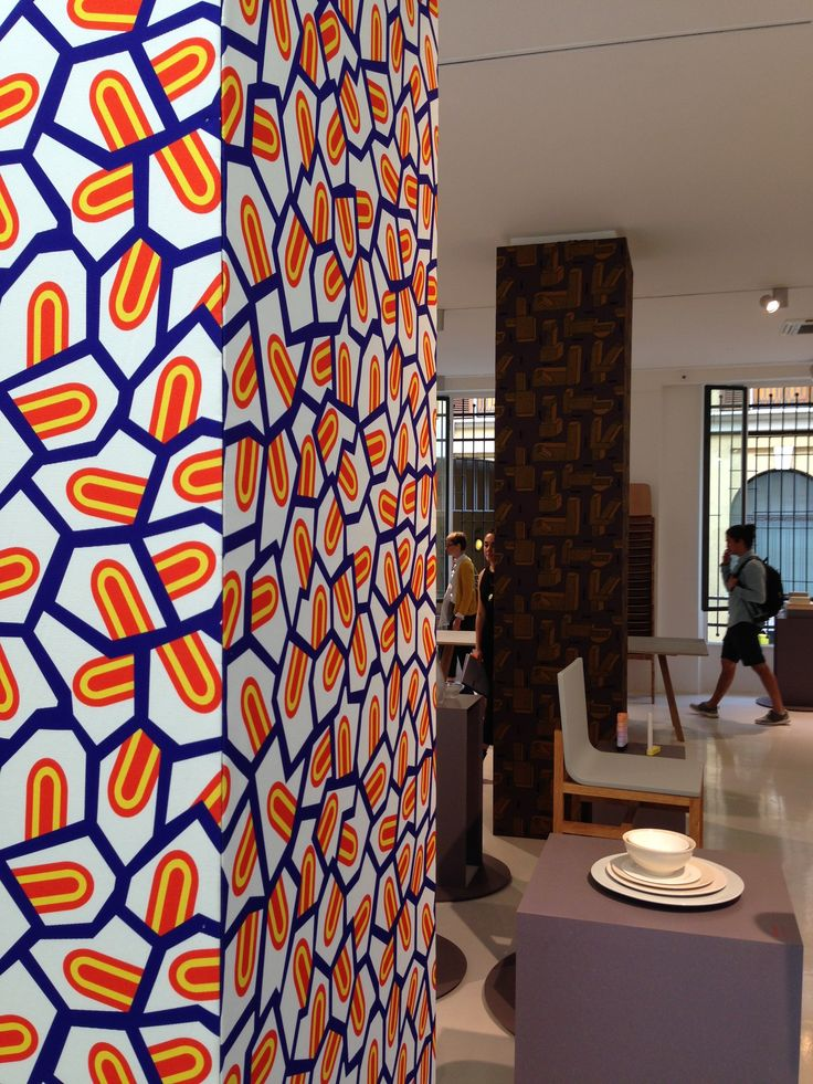 Fabrics inspired by West Africa, by French designer and painter Nathalie Du Pasquier,edited by Hay.