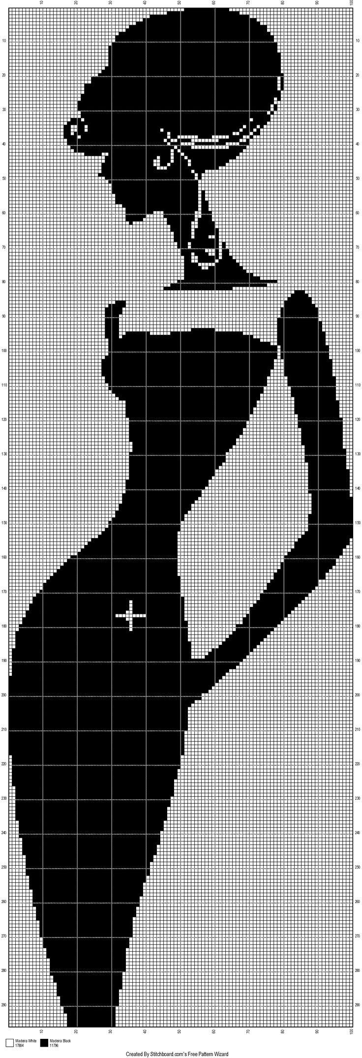 0 point de croix monochrome femme en robe - cross stitch lady in black dress