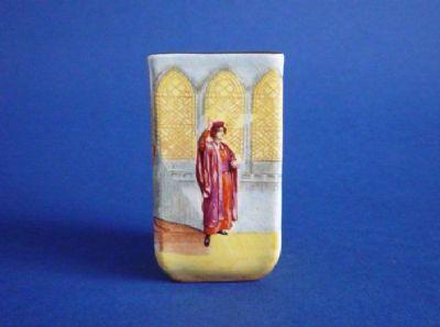 Royal Doulton Shakespearean Characters 'Portia' Miniature Vase c1915