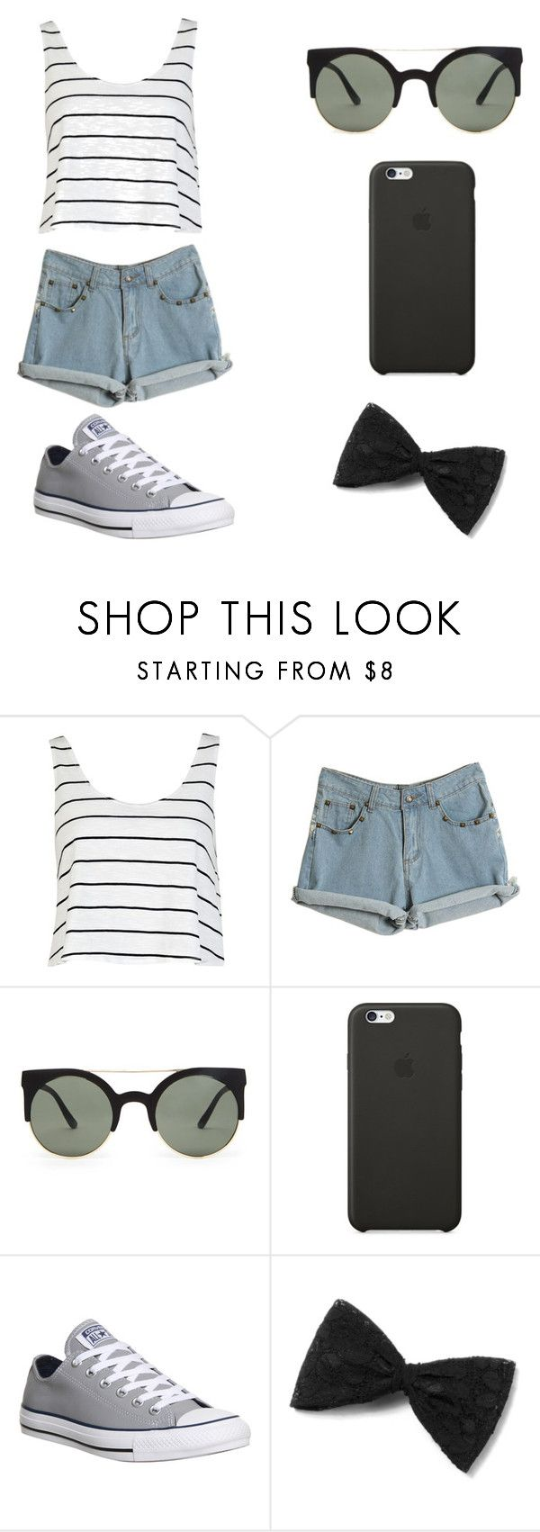 """""""Untitled #73"""" by karenrodriguez-iv on Polyvore featuring River Island, Forever 21, Black Apple, Converse, women's clothing, women, female, woman, misses and juniors"""