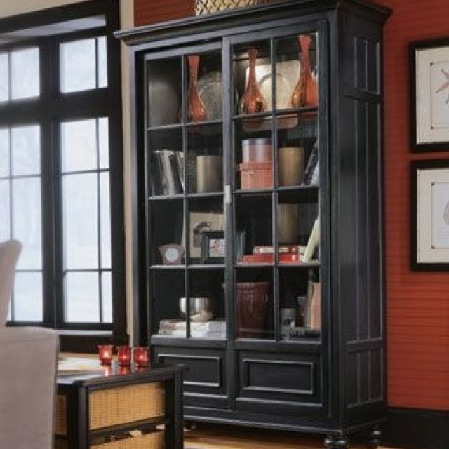 Camden Black Bookcase/China  RTA Feet By American Drew   Home Gallery Stores