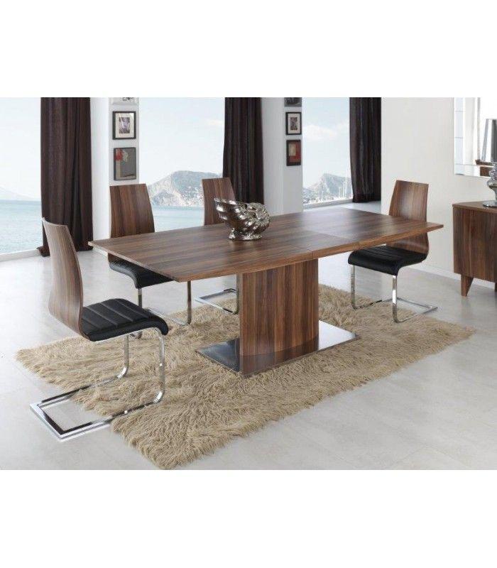 Elegante y moderna mesa de comedor extensible en madera for Mesa de comedor elegante lamentable