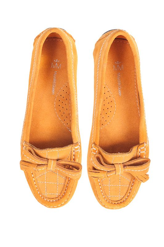 Audrey loafers by Maya McQueen. Tangerine suede. Melbourne designed. $179. eb x