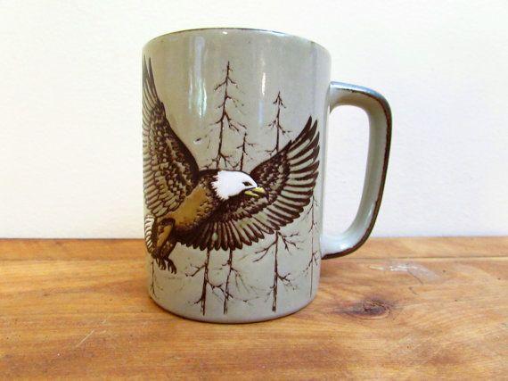 Vintage Otagiri Mug Bald Eagle Mug Otagiri Japan by FoxLaneVintage, $15.85