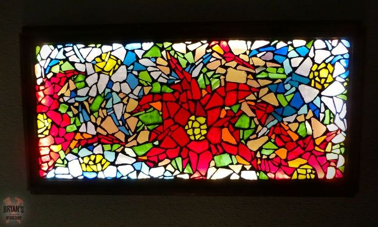 I love stained glass! Stained glass everything! Here is how I made a large mosaic glass light for my ceiling using scrap glass. The is the finished light on the…