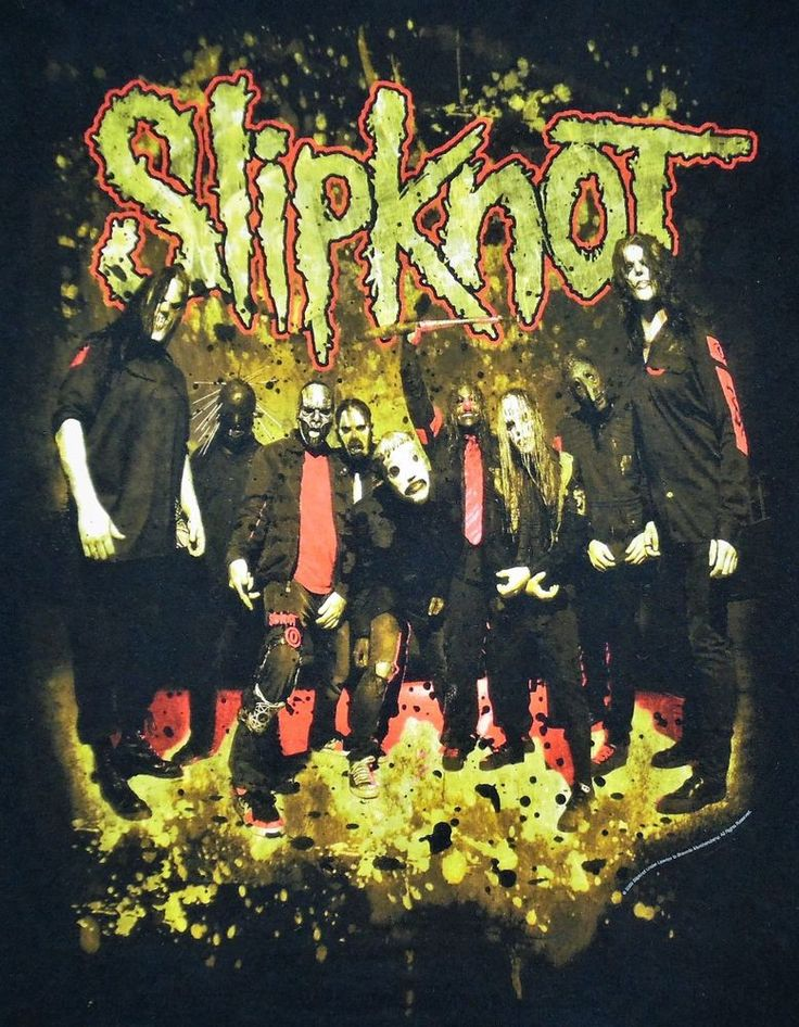 SLIPKNOT T shirt Band on front, 9 Point Nonagram Star on back, Adult size Small #Hanes #GraphicTee