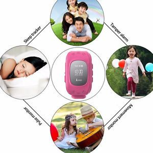 Kinder Uhr mit GPS SOS Anruffunktion Smart Watch Android IOS Peilsender Ortung