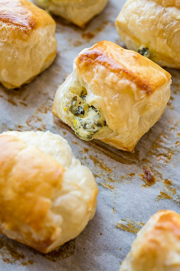 Check Out Puff Pastry Spinach Cheese Bites With Tomato