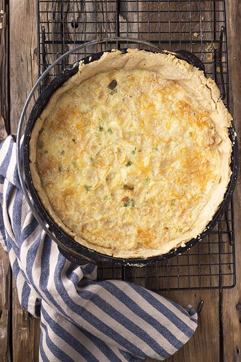 Southwestern Migas Quiche - rich and satisfying. Make on Sunday and eat leftovers all week.
