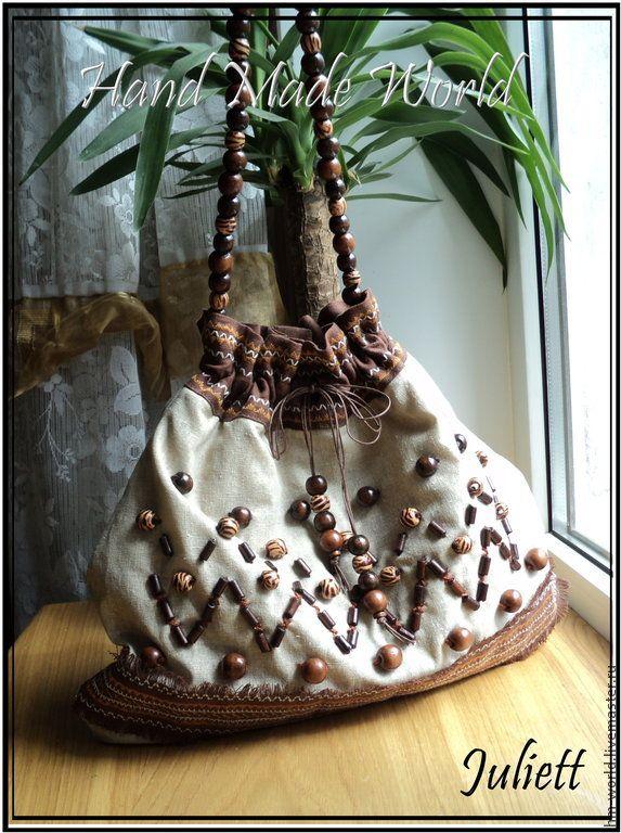Купить Летняя сумочка - коричневый, орнамент, летняя сумка, летние аксессуары, летние сумочки, сумка