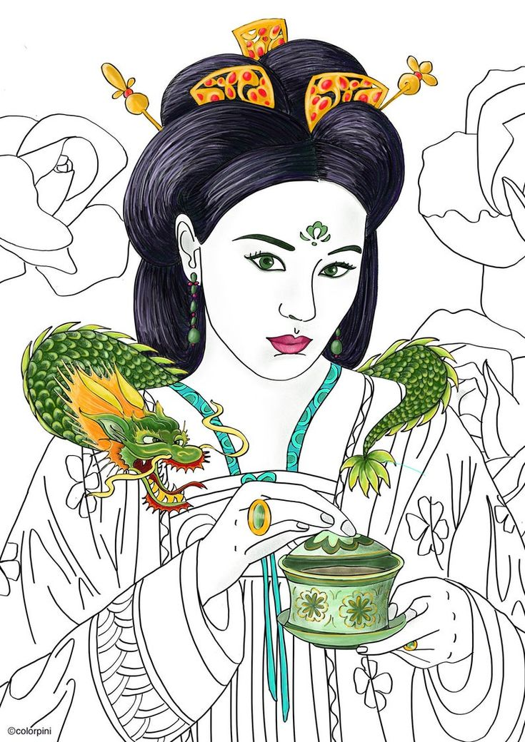 Dragon Princes 3 pdf coloring pages #adultcoloring # ...