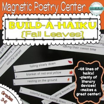 Magnetic Poetry Center Build A Haiku Fall Leaves 48 Lines Of To