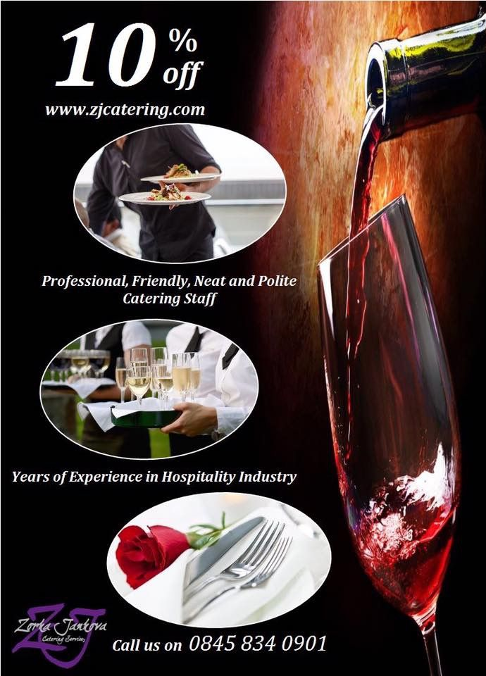 Zjcatering.com includes the waiting staff, event managers, event hosts & hostesses and bar staff for every occasion. Our hospitality staff can be booked in large groups for hotels, stadiums, festivals and concerts as well as for small private parties.