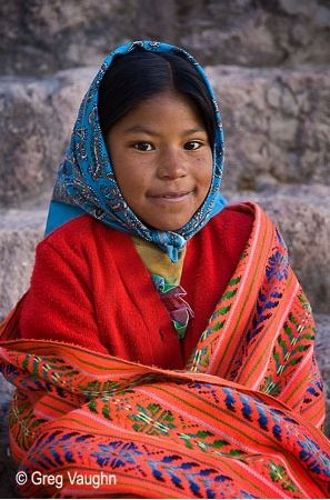 Tarahumara girl in the Copper Canyons in Mexico
