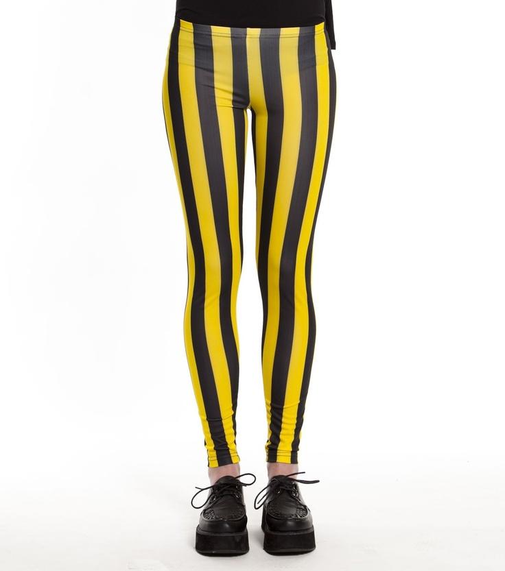 Yellow Black Legging