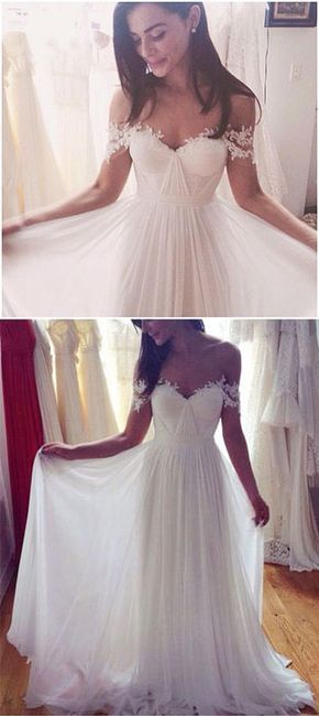 A-Line Wedding Dresses,Long Appliques Wedding Dresses,Wedding Dresses,Cap Sleeve Wedding Dress