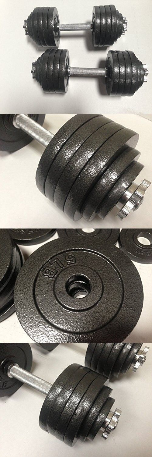 One Pair Cast Iron Adjustable Dumbbells with Baked Gloss Finish Total 200lbs(2 x 100lbs)