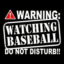 Warning! As soon as Spring comes, don't mess with me while watching my Yanks!