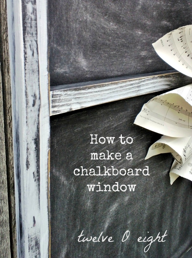 How To Make A Chalkboard Window {without a window}