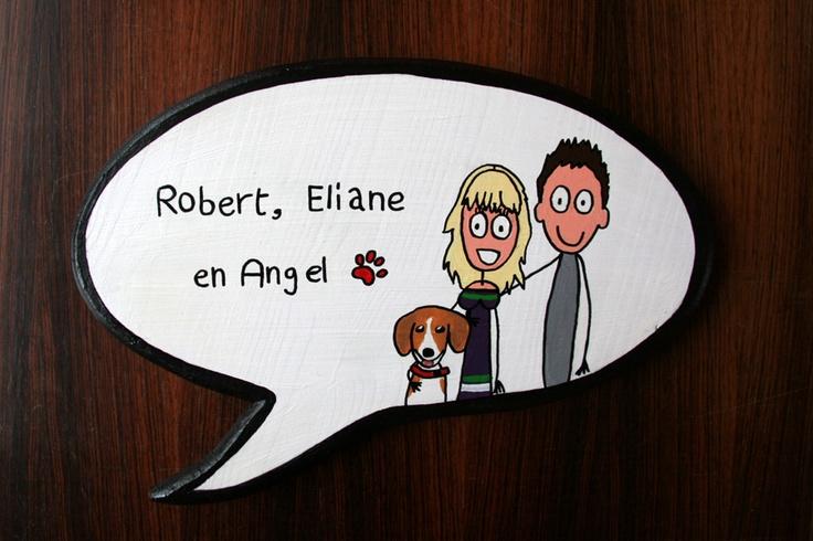 Naambord van Annie Warhoofd   www.anniewarhoofd.nl