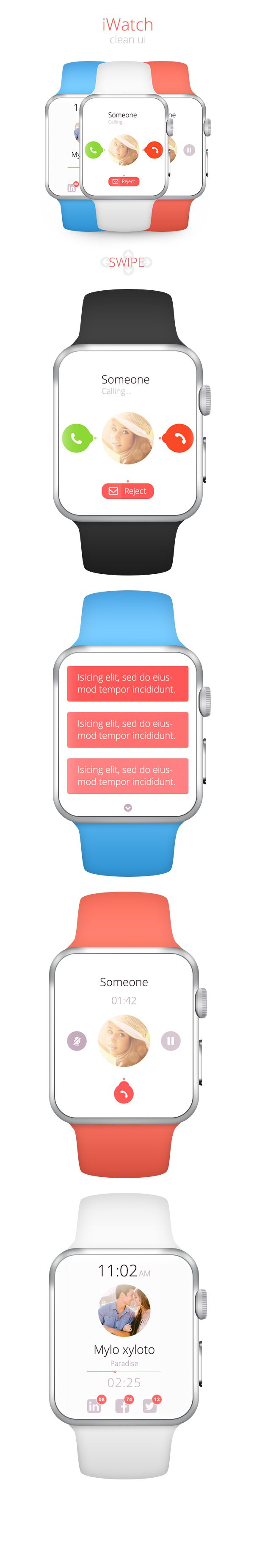 iwatch ui on Behance