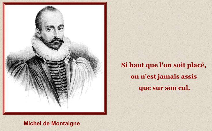 Sur son cul - Michel de Montaigne