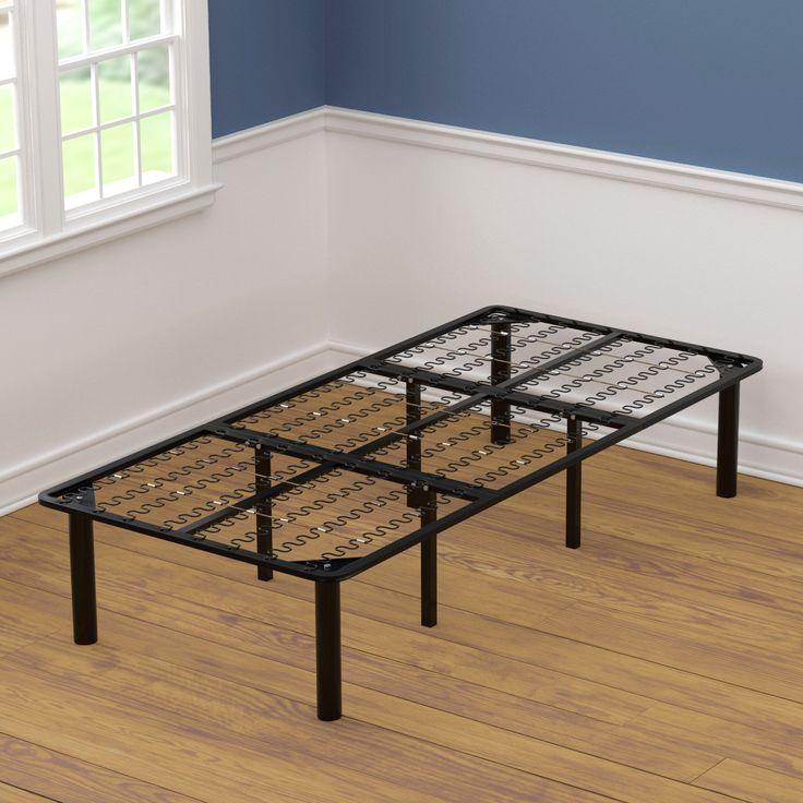 xl twin size black steel bed frame black steel size twin xl - Xl Twin Bed Frame