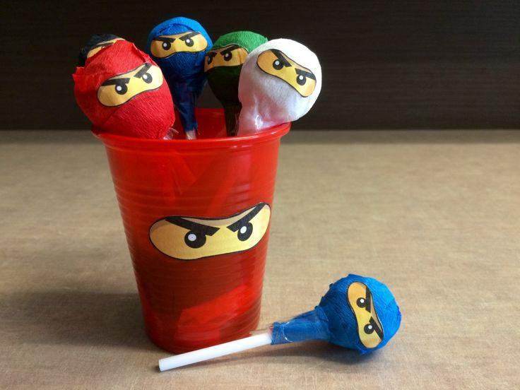 Ninjago-party köszönő ajándék