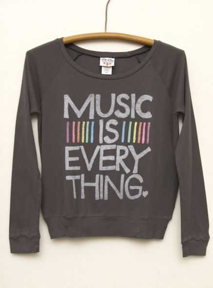Junk Food Clothing -Kid Girls Music is Everything Long Sleeve Raglan  $36  www.junkfoodclothing.com