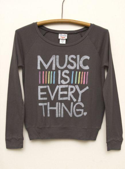 Junk Food Clothing -Kid Girls Music is Everything Long Sleeve Raglan  $36  www.junkfoodclothing.com