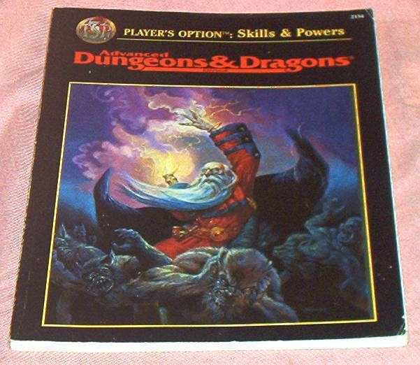 "Advanced DUNGEONS And DRAGONS Rulebook, Optional Rules, ""Player's Option: Skills & Powers"", by TSR, 1995, Vg. by brotoys1 on Etsy"