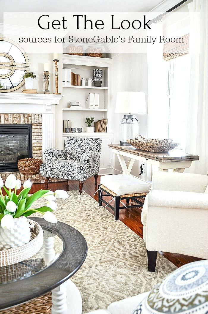Get The Look Family Room French Country Living Room Country