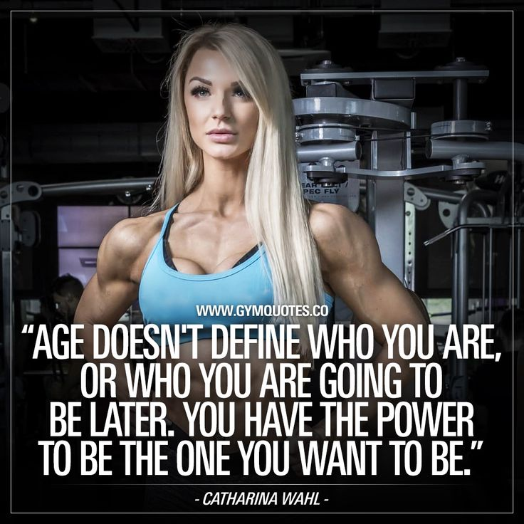 IFBB Pro Catharina Wahl: You have the power to be the one you want to be.