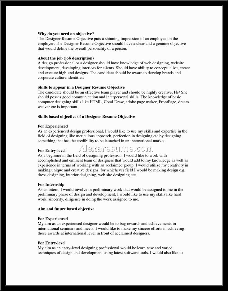 Resume Objective Statement Examples Statements For Resumes Career From Good Great Agcareers