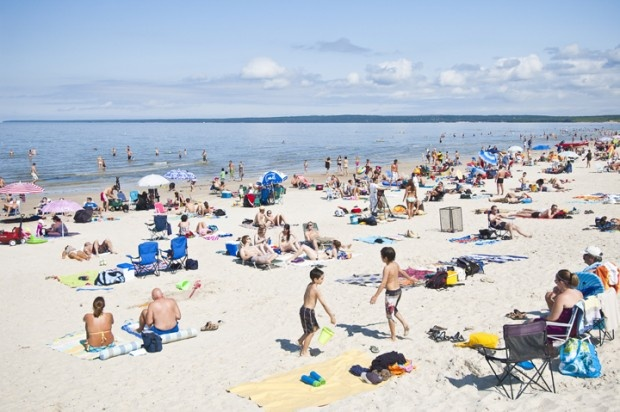 Winnipeg Beach, Manitoba, Cllanlada. Wonderful sand dunes. (the sand goes on for miles)