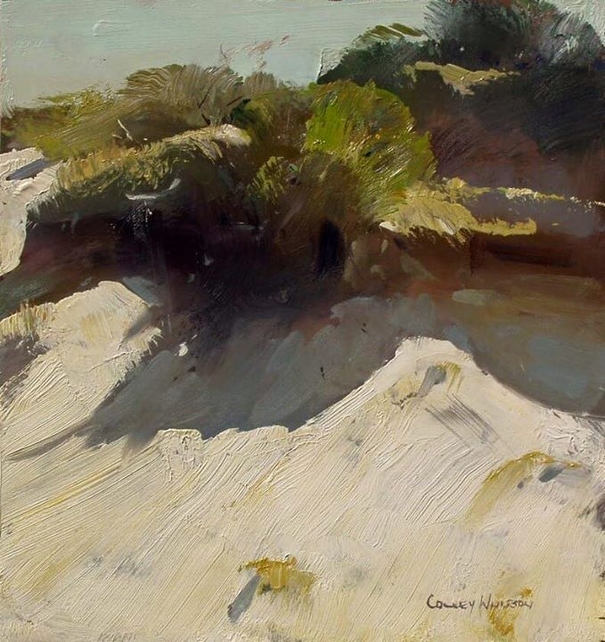 """Artist Colley Whisson North Stradbroke Island Dunes, Aust. 10x10"""" Love this little abstract of nature!"""