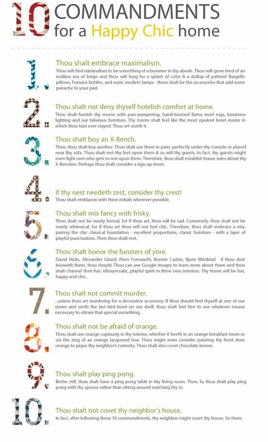 Johnathan Adler 10 Commandments: 10 Commandments, Interior, Decor Ideas, Happy Chic, Decorating Ideas, House, Design, Adler S 10