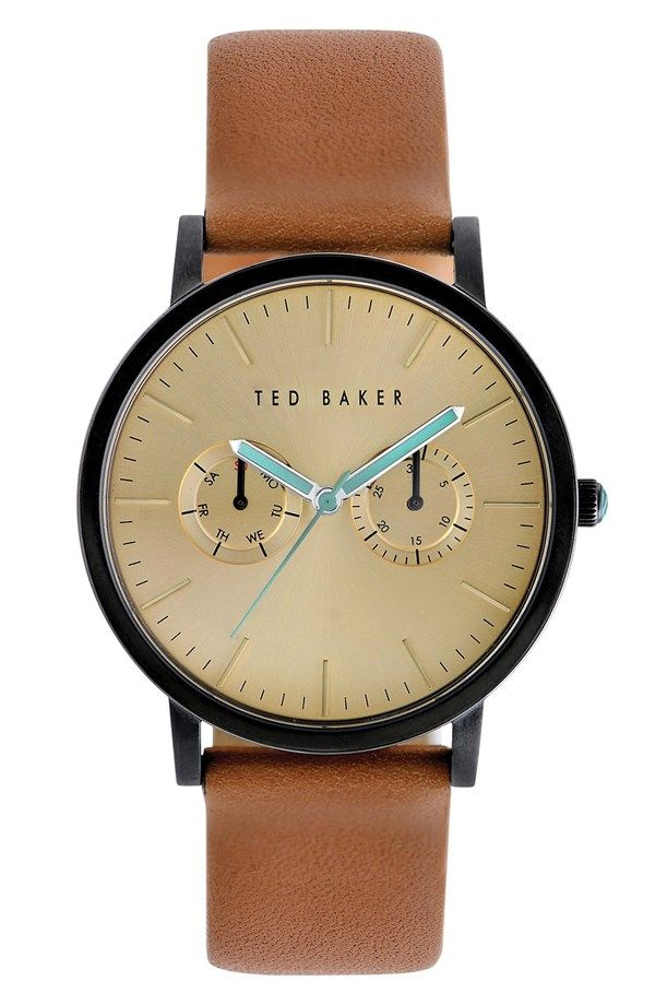 Multifunction Leather Strap Watch, 40mm / @nordstrom #nordstrom Ted Baker