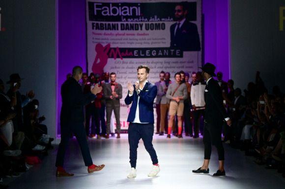 Fabiani's collection at Mercedes-Benz Fashion Week Joburg 2014. Image by SDR Photo #MBFWJ