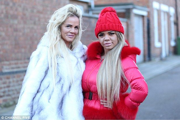 Quick, pass me a bike pump, the mother's lips need attention!  Georgina Clarke, 39 (left) has had tens of thousands of pounds' worth of surgery to look j...