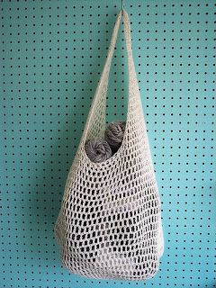 day by day: Crocheted Farmer's Market Bag