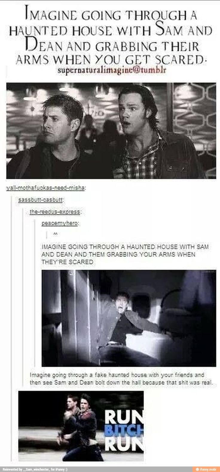 HAUNTED HOUSE WITH SAM AND DEAN. RUN, B**¢h RUN